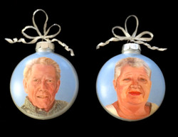 Commissioned portrait ornaments