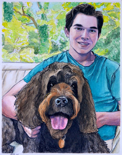Jacob and Moxie Commissioned portrait