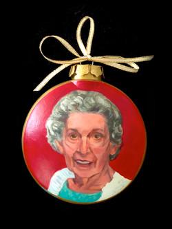 Commissioned portrait ornament
