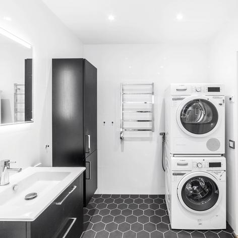 Badrumsrenovering med tvättstuga