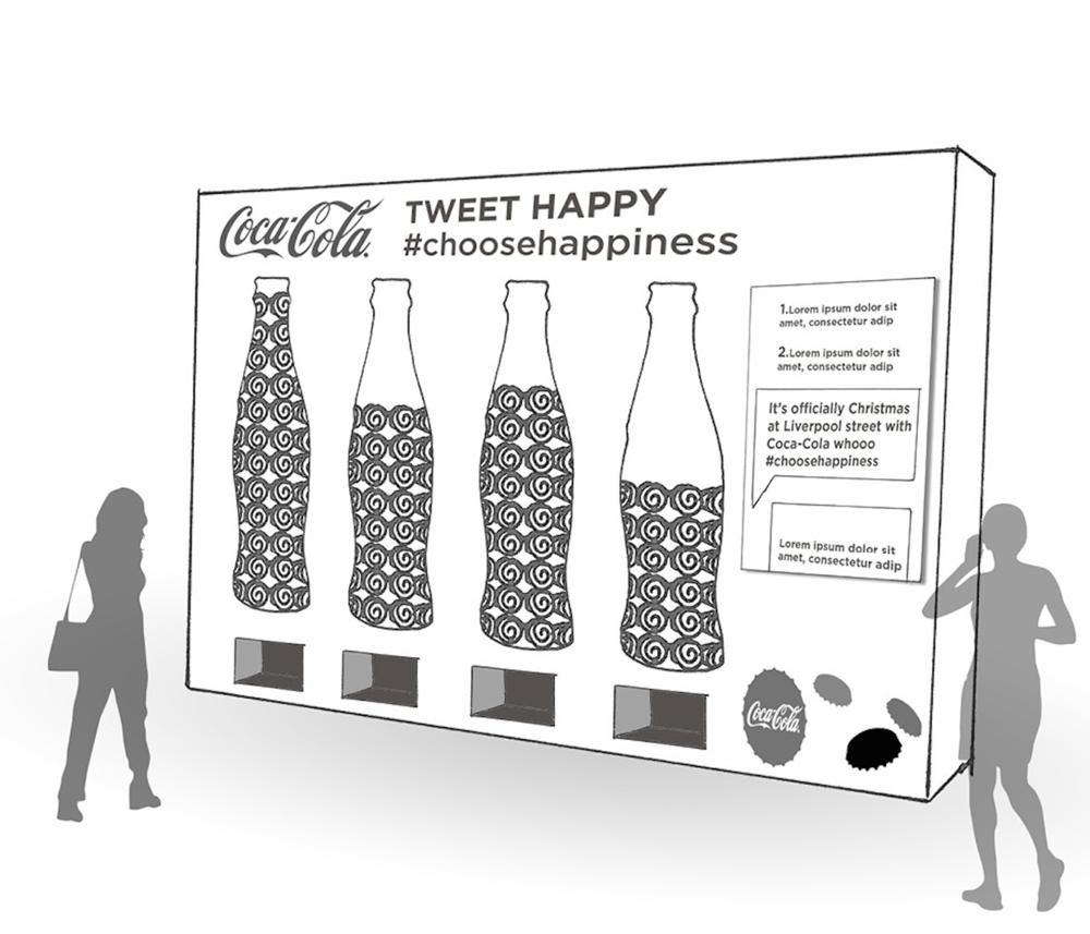 Coke social vending