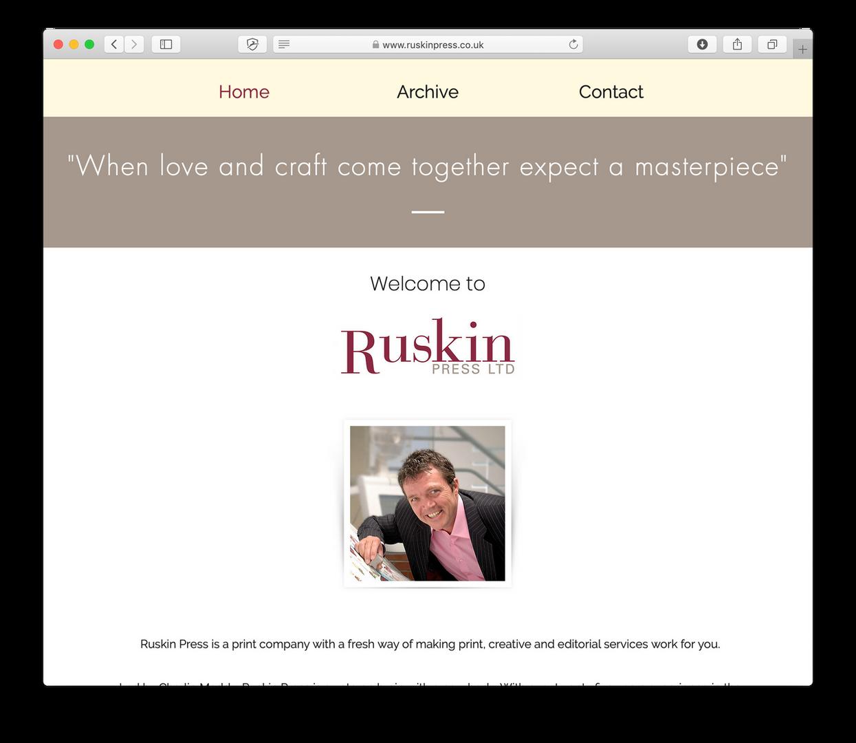 Client - Ruskin Press Ltd