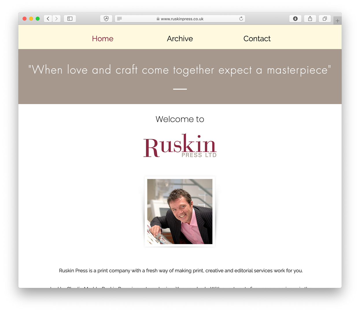 Client - Ruskin Press Ltd