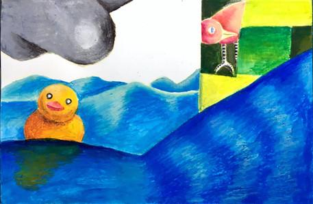 童年,塑胶鸭,麻雀,田野.jpg