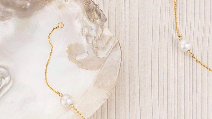Necklac, Gold &River Pearl