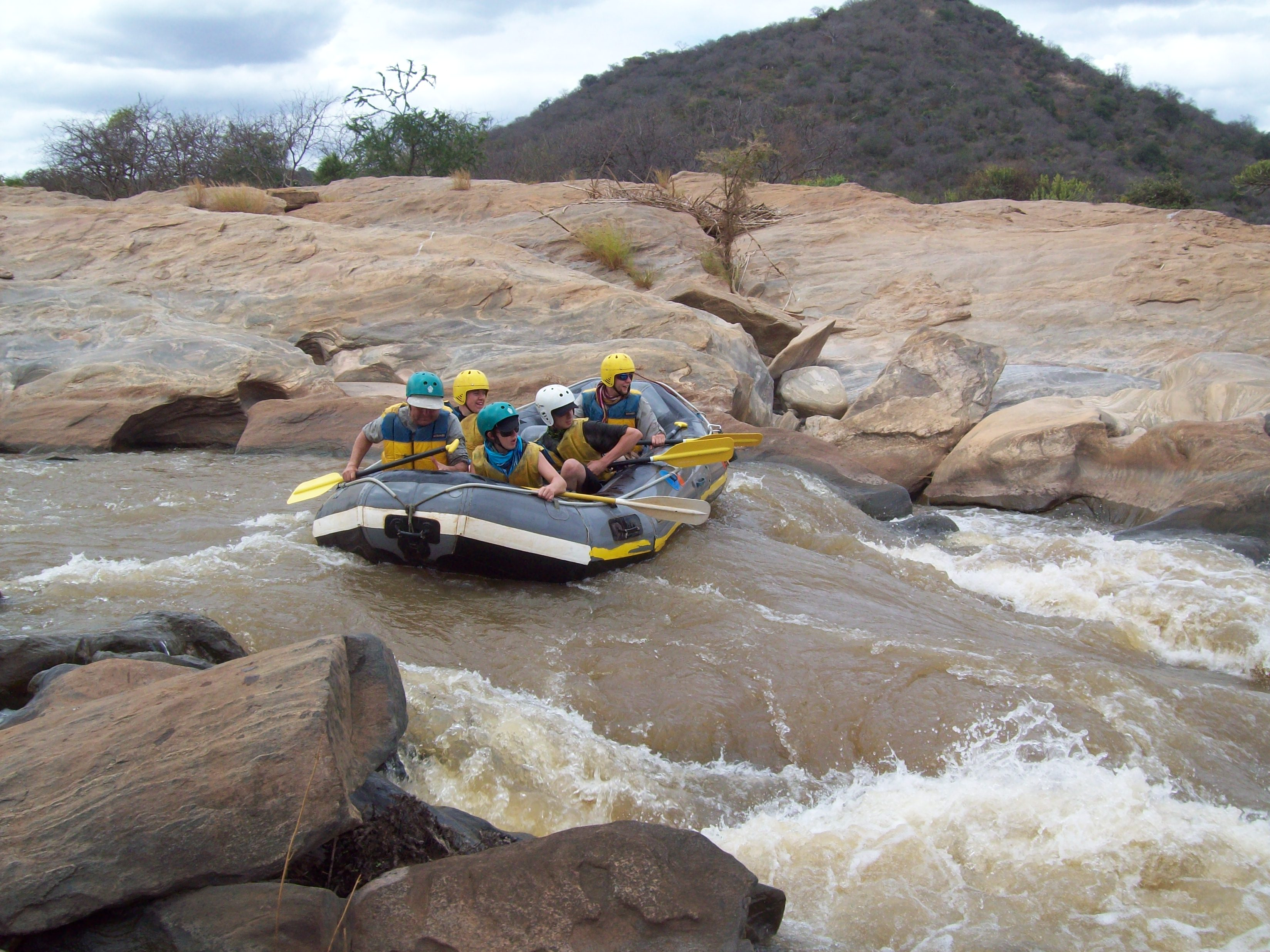 Rafting along the Athi river