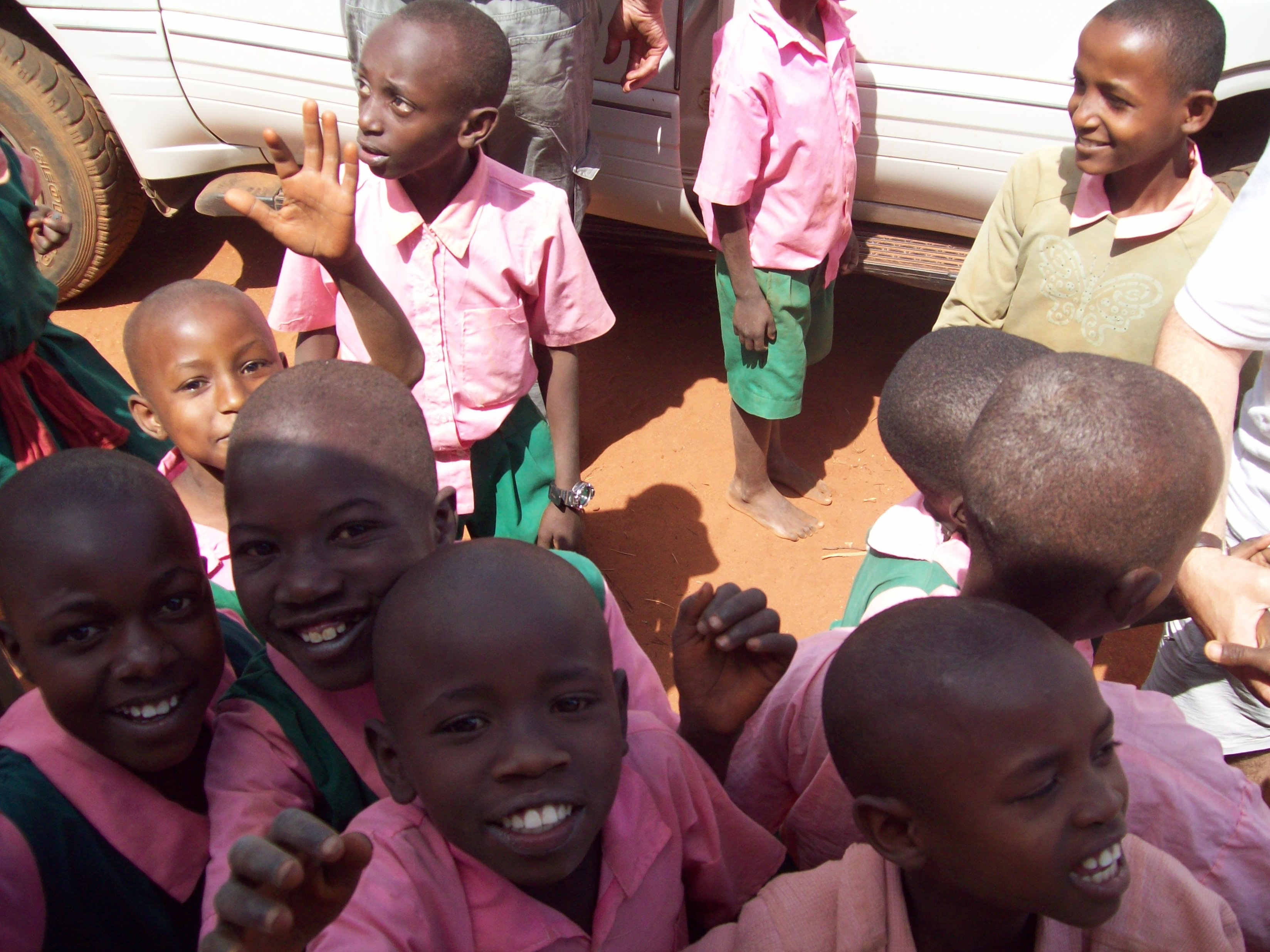 Arrival at Kikunduku Primary Schools