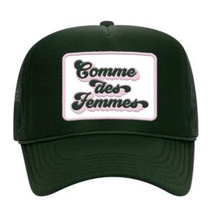 COMME DES FEMMES DARK GREEN HAT - SOLD OUT