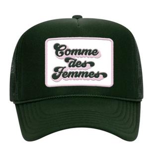 COMME DES FEMMES DARK GREEN HAT -- SOLD OUT