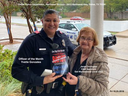 Honoring an Officer Of the Month