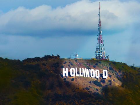 Hollywood Sign In Spotlight