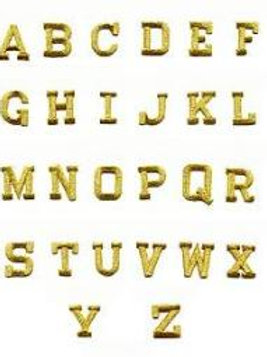 "Gold Embroidery 2"" Letters/Numbers (EACH)"