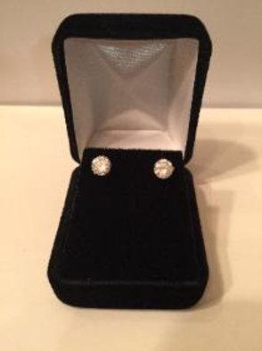 Sterling Silver 5mm Cubic Zirconia Stud Earring