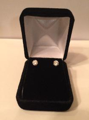 Sterling Silver 4mm Cubic Zirconia Stud Earring