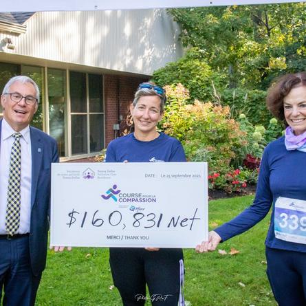 160,831$ raised at the Teresa Dellar Palliative Care Residence during 5th annual run/walk fundraiser