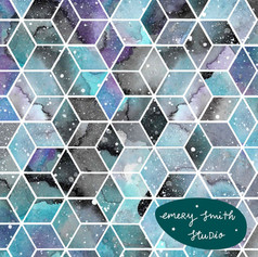 Blue Space Hexagons