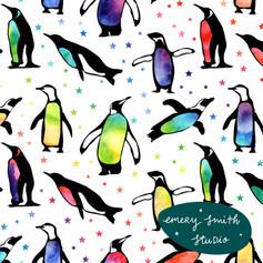 Rainbow Penguins