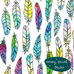 Rainbow tone feathers