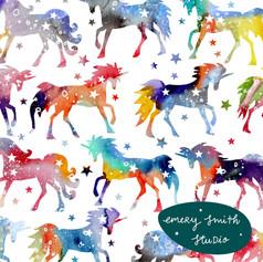 Rainbow Galaxy Unicorns