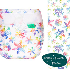 Exclusive designs for Tots Bots reusable nappies
