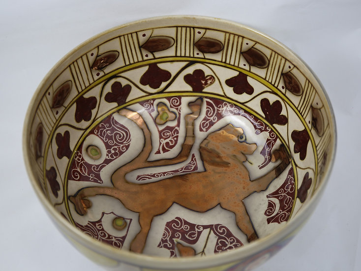 Lion, Handmade Bowl