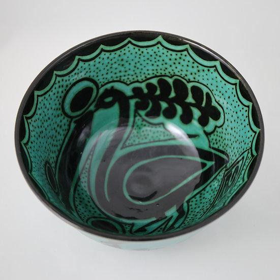 Peacock, Handmade Bowl