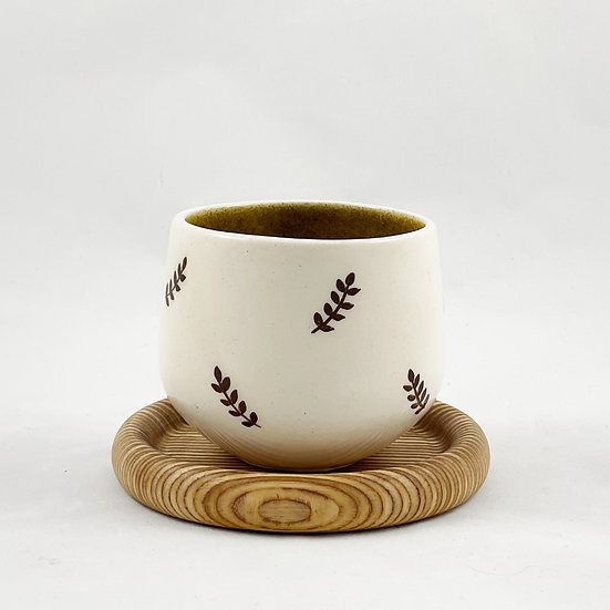 Coffee Cup Ring, Wood