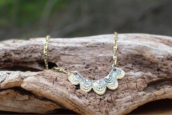 Scalloped Artisan Necklace