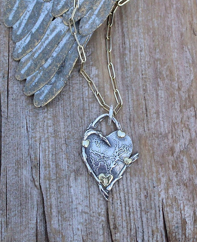 Spread Love This Time Heart Necklace