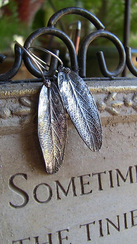 Sterling Silver Sage Earrings