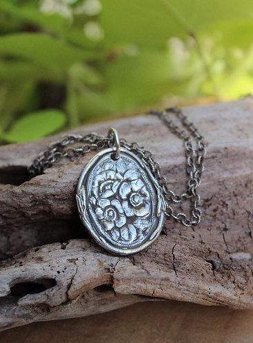 Garden Glory Silver Flower Necklace