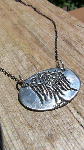 Sterling Silver Weeping Willow Tree Necklace