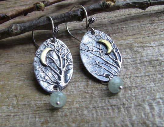 Enchanted Forest Aquamarine Earrings