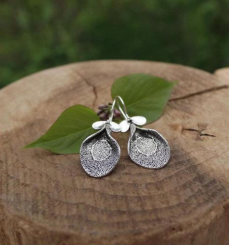 Sterling Silver Botanical Pod Earrings
