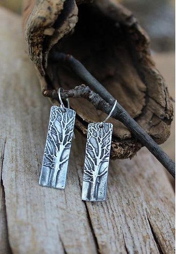 Sterling Silver Tree Earrings, Forest Earrings, Woodland Earrings, Nature Earrin