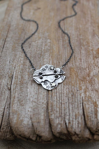 Sterling Silver Mountain Reflections Necklace
