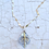 Thumbnail: Sterling Silver and Gold Angelica Leaf Necklace