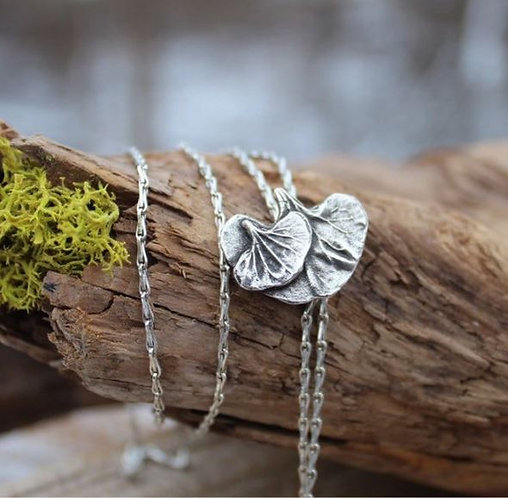 Sterling Silver Dichondra Leaf Lariat Necklace