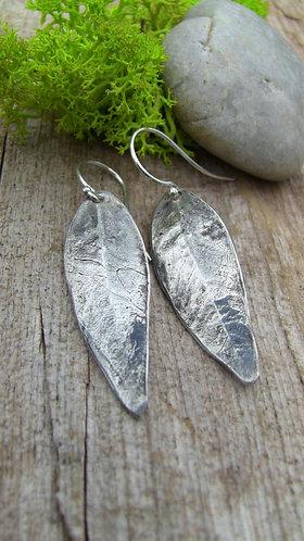 Sterling Silver Willow Leaf Earrings