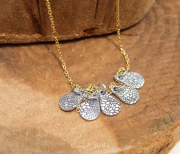 Sterling Silver Raindrop Necklace