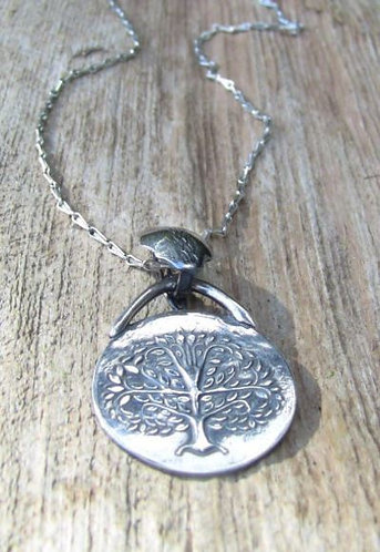Sterling Silver Tree of Life Necklace with Removable Enhancer