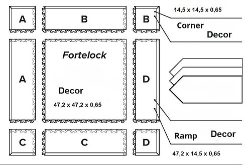 Fortelock Decor ramp / corner 1 db.