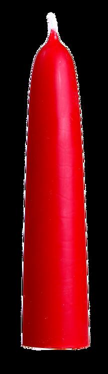 Festkerze mittel 180/40 Rot
