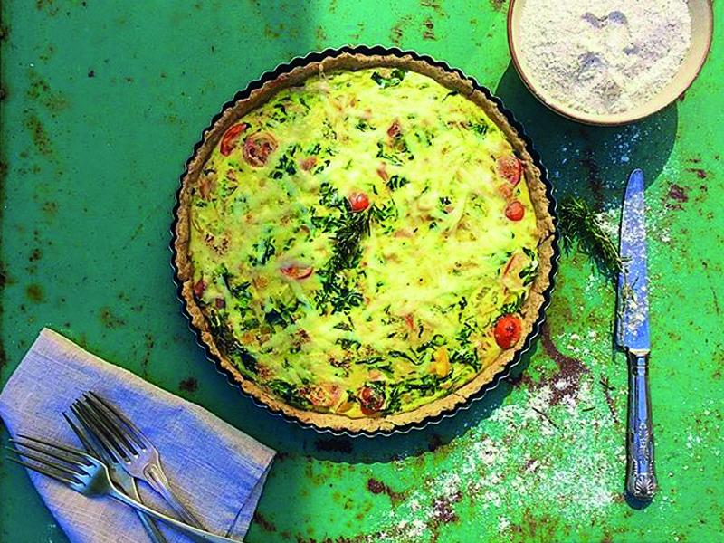 Quiche de jamón serrano y espinacas · Por Pía Jarpa Shacker