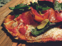 Pizza de salmón ahumado