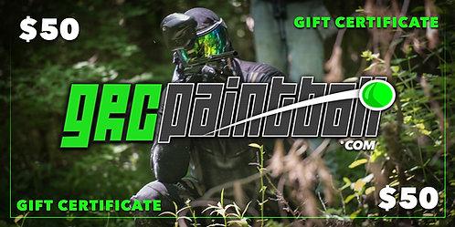 GRC $50 Gift Certificate