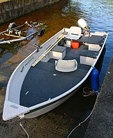 Stable fishing boat for hire
