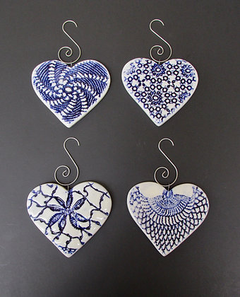 Heart Christmas Ornaments