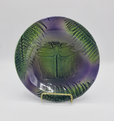 Small round purple plate