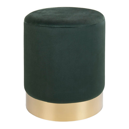 House Nordic - Gamby Puf, grøn velour